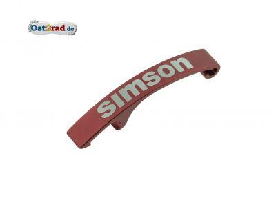Flaschenöffner mit Lasergravur SIMSON - rot eloxiert