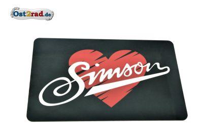 Frühstücksbrettchen I love SIMSON 23,3x14,3cm