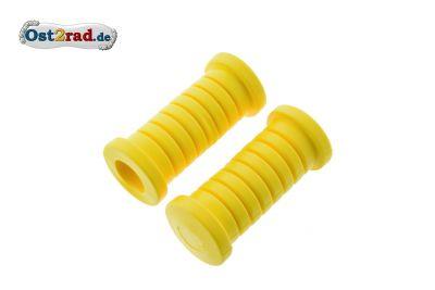Fußrastengummi Paar und passend für MZ SIMSON gelb