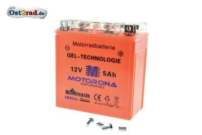 Batterie gel pour MZ et Jawa 12V 5Ah sans entretien