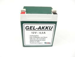 Gel battery 12 V 4.5 A for SIMSON and MZ