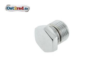 Thread stopper for the suspension unit attachment MZ ES250 / 1/2 hexagonals chromium-plates