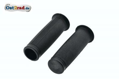Lenkergriffgummi - Set für SIMSON SR1 SR2 KR50 Spatz ballig, schwarz 1.Qualität