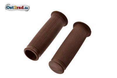 Griffgummis ballig Braun für MZ RT125 ES 125 150 175 250 1.Qualität