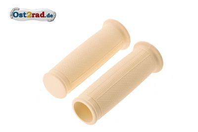 Griffgummis ballig Elfenbein für MZ RT125 ES 125 150 175 250 1.Qualität