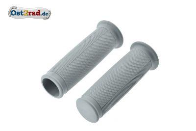 Griffgummis ballig GRAU für MZ RT125 ES 125 150 175 250 1.Qualität