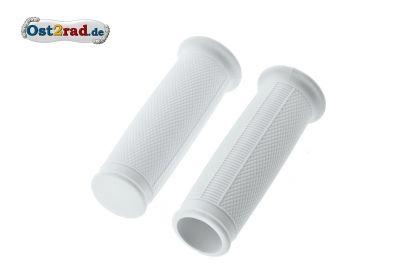 Griffgummis ballig Weiß für MZ RT125 ES 125 150 175 250 1.Qualität