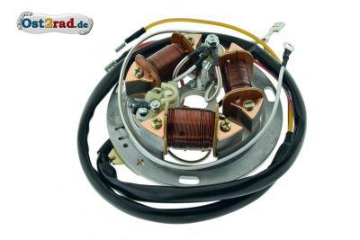 Grundplatte komplett 6V Unterbrecher SIMSON SR50 SR80