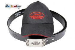 Belt and cap with logo JAWA, gift set