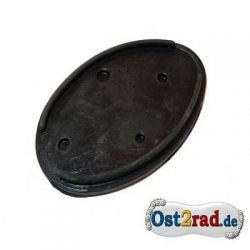 Rubber base oval taillight