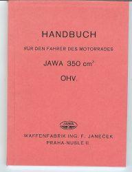 Handbuch für den Fahrer JAWA 350 OHV deutsch