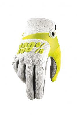 Handschuhe IXS Airmatic weiß-gelb