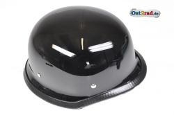 Motorradhelm Optik Stahlhelm schwarz