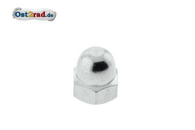 Hutmutter M8-06-Cr (DIN 1587) - Messing verchromt