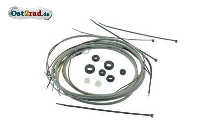 Kabelbaumset Simson KR50 mit Wechselstromsignalhorn inkl. Schaltplan