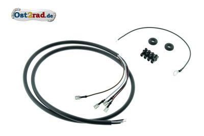 Kabelsatz Bremsschlussleuchte KR51/2 - schwarze Ummantelung, Querschnitt 0,75mm²