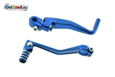 Kickstarterhebel und Schalthebel blau SIMSON S51 S70
