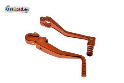 Kickstarterhebel und Schalthebel orange SIMSON S51 S70
