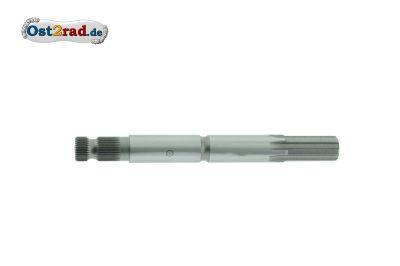 Kickstarterwelle kurze Form 150 mm Grobverzahnung Simson KR50 Spatz