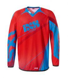 Kinder-Cross-Shirt IXS Raceway rot-blau