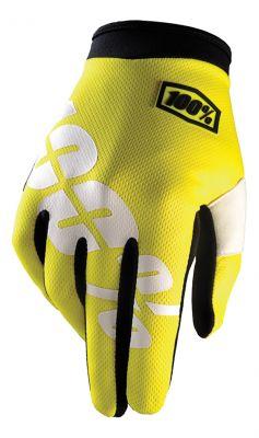 Kinder-Handschuhe IXS Itrack neon-gelb