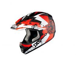 Kinderhelm IXS HX 278 Tiger schwarz-rot-weiss