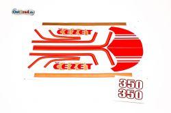 Aufklebersatz CZ 350 Typ 472 rot gold