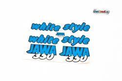 Aufklebersatz white style JAWA 640 in blau