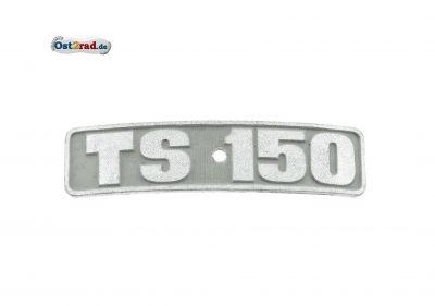 Abzeichen, Plakette für Kotflügel passend für TS150 gebogen DDR-Altbestand
