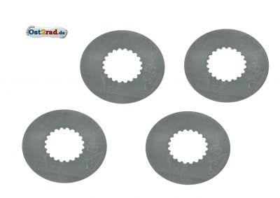 SET 4x Kupplungslamelle Stahl verstärkte Kupplung für SIMSON S51 KR51/2 SR50 0,6mm