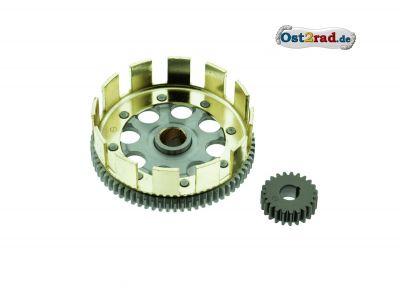 Kupplungszahnrad + Antriebsritzel SET- Sport - 71/23 Zähne - geradeverzahnt, erleichtert, verstärkt, zusätzliche Schmiernut - für leistungsstarke Motoren M531 - M743