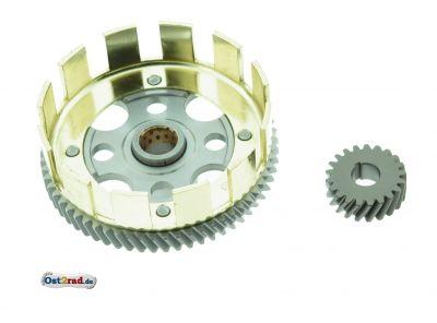 Kupplungszahnrad, Antriebsritzel SET - Sport - 62/21 Zähne  - Kupplungskorb erleichtert - Motor M700
