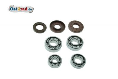Bearing set with sealing rings JAWA 354/360