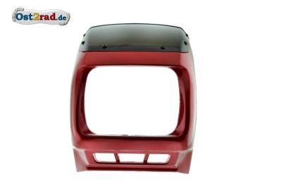 Tête de fourche JAWA 640 Rouge Carénage avec saute-vent