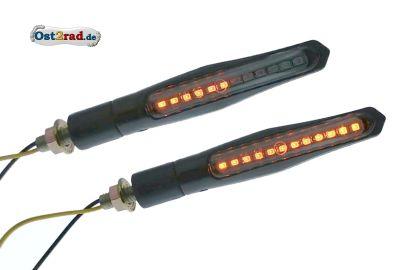 Paar LED Lauflicht Blinker für Simson S50 S51 universal mit Blinkgeber