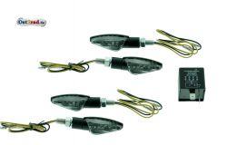 Mini LED Blinker Satz passend für Simson S51 mit Blinkgeber