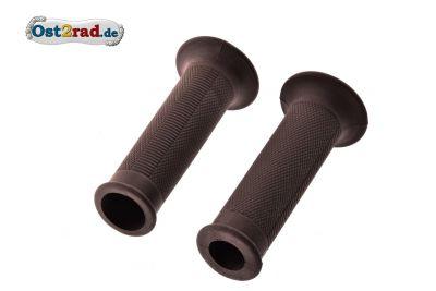 Lenkergummi Paar für MZ ES 125 150 175 250 300 Rändelprofil Braun 1.Qualität