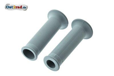 Lenker Griffgummi Paar für MZ ES 125 150 175 250 300, Rändelprofil Grau 1.Qualität