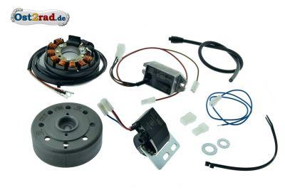 Lichtmagnetzündanlage 12V/100W mit integrierter vollelektronischer Zündung Gleichstrom Simson S51 S70 SR50 SR80