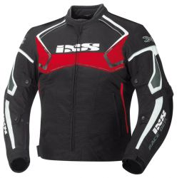 Blouson moto homme IXS Activo noir-rouge-blanc