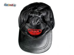 Ledermütze Jawa schwarz