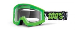 MX Brille Crosshelm neon grün