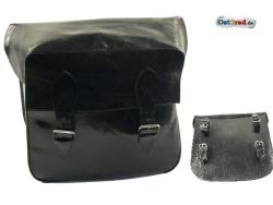 Vintage motorcycle leather bag black