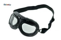 Brille Oldtimer Motorrad Motorradbrille Pilotenbrille schwarz AWO RT BK350