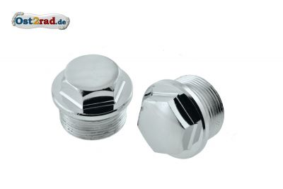 Cover nuts for telescopic front fork ETZ