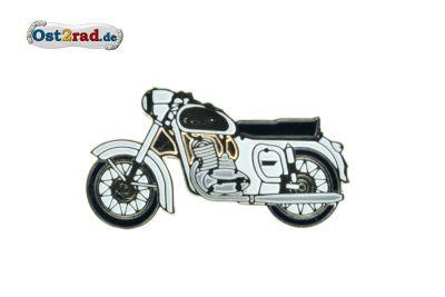 Pin JAWA 350 weiß/gold