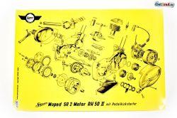 Poster Motor SIMSON SR2 mit Pedalkickstarter