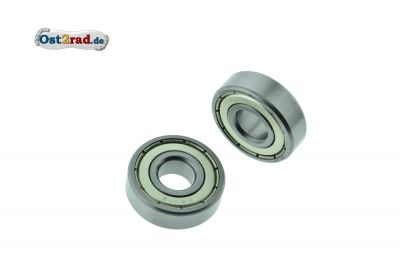Ball bearing pair for wheels Jawa Mustang 6201 2Z C3, SNH