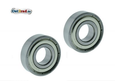 Ball bearing pair wheel MZ BK350 6204 ZZ