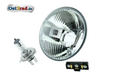 Reflektor Halogen H4 passend für KR51 mit Prüfzeichen und 12V Leuchtmittel